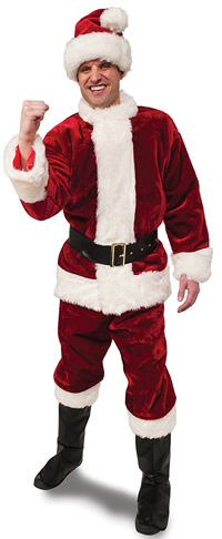 8. Crimson Regency Plush Adult Santa Suit