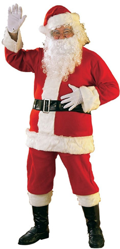 3. Rubie's Flannel Santa Suit with Gloves (Bright Red)