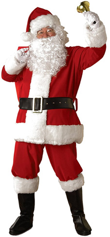 1. Rubie's Regal Plush Men's Santa Suit