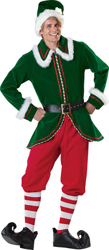 9. Fun World Men's Santa's Elf Costumes - Preferred