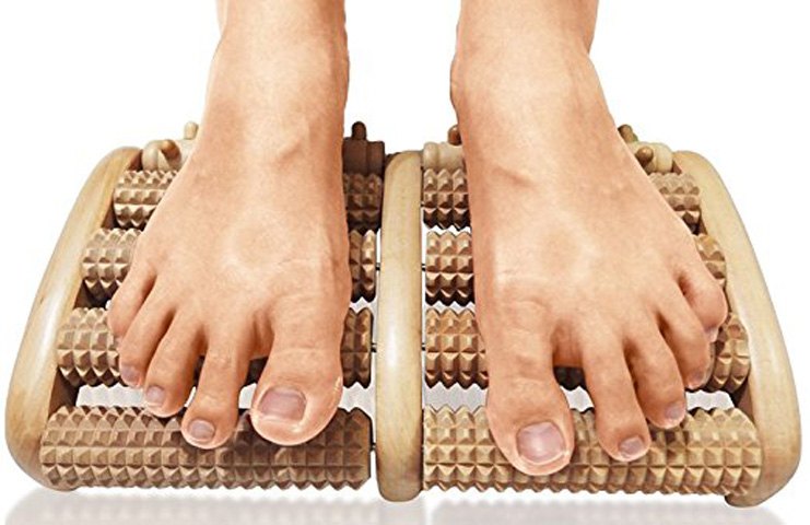 1. TheraFlow Large Dual Foot Massager Roller - Preferred