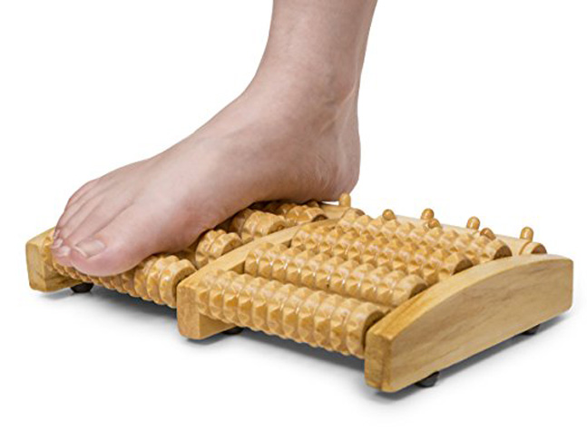 10. Dr. Flink Dual Wooden Foot Massager Roller