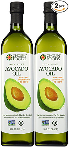 5. Chosen Foods 100% Pure Avocado Oil (33.8-oz) Pack of 2 - Preferred
