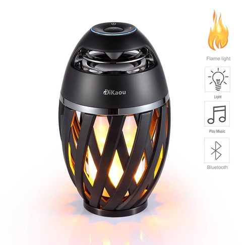 1. DIKAOU Led flame Bluetooth speaker