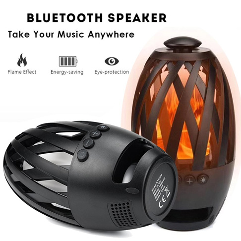 10. Liibot Led Flame Bluetooth Speaker
