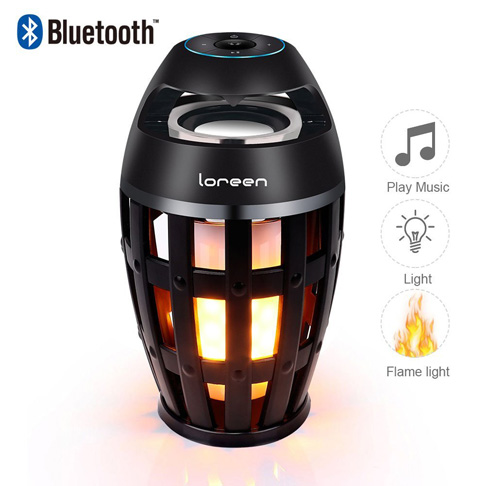 9. LoReen Led flame speaker