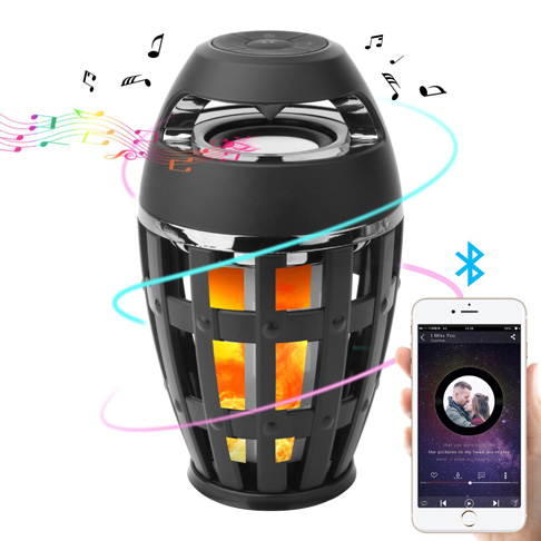 7. Seternaly Led Flame Bluetooth Speaker