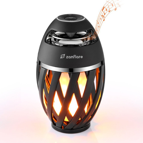 4. Zanflare Flame Lamp Bluetooth Speaker - Preferred