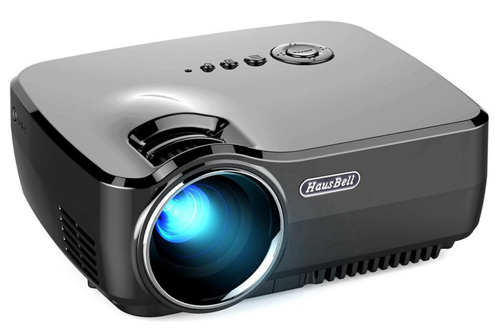 5. Hausbell LED Mini Home Projector
