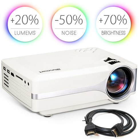 3. Blusmart LED-9400 Video Projector (2018 Upgraded)