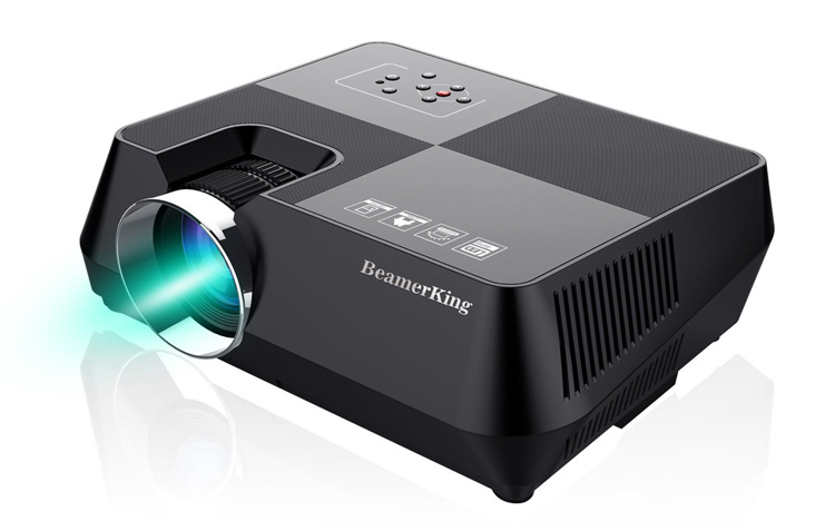 10. BeamerKing Portable Led Projector