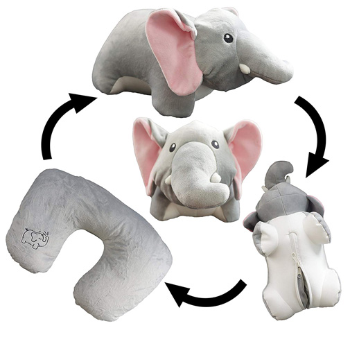 8. Yzakka Convertible Elephant Pillow