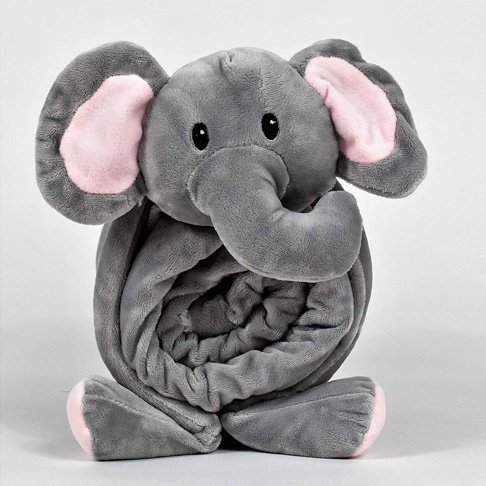 10. SNUGGIES Stuffed Animal Elephant Pillow