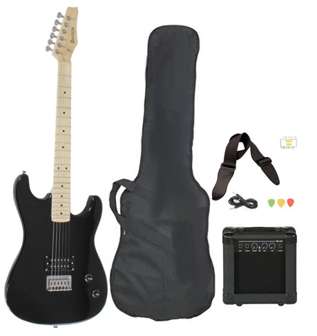 1. Davison Guitars Black Electric Guitar