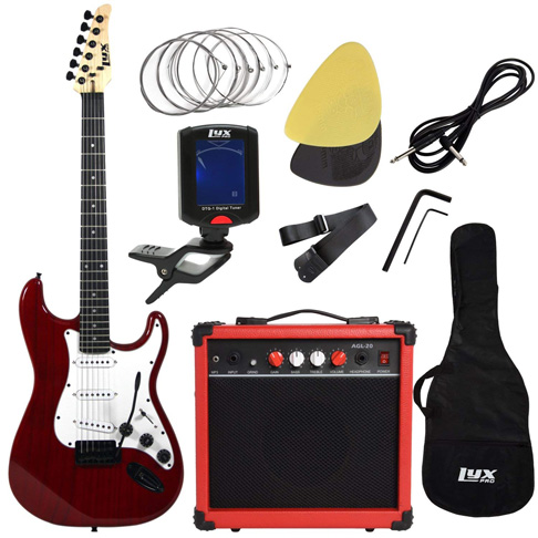 7. LyxPro Electric Guitar with 20W Amp