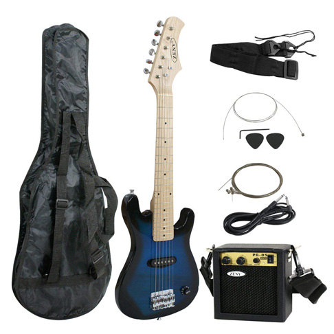 "9. Smartxchoices 30"" Kids Electric Guitar (Blue)"