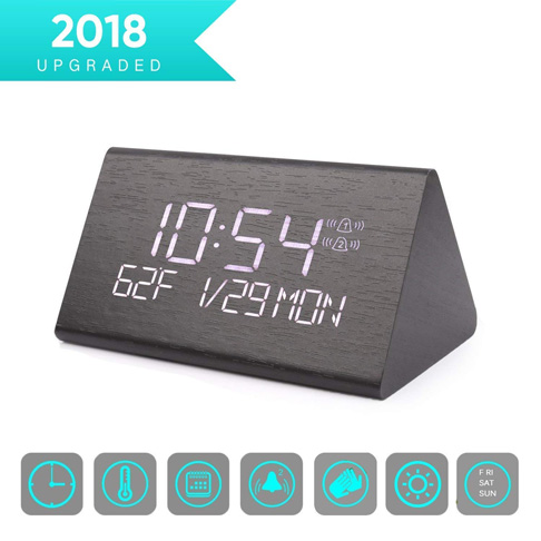 2. Warmhoming Digital Alarm Clock - Preferred