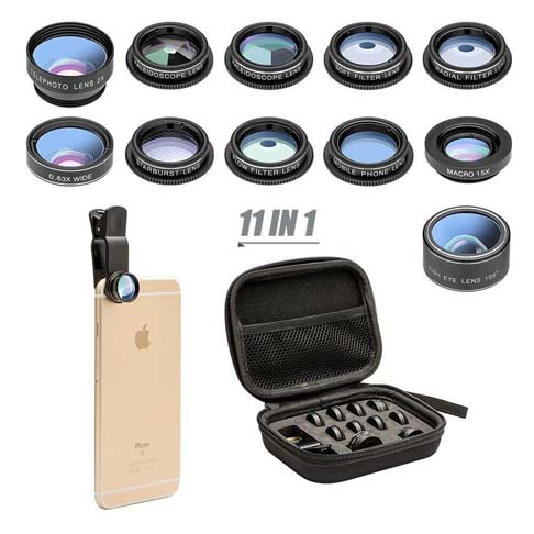 4. MOCALACA 11 in 1 Cell Phone Camera Lens Kit - Preferred