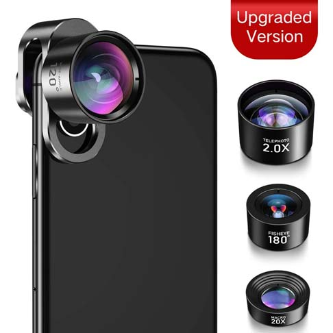 9. JOPREE 4 in 1 iPhone Lens Kit