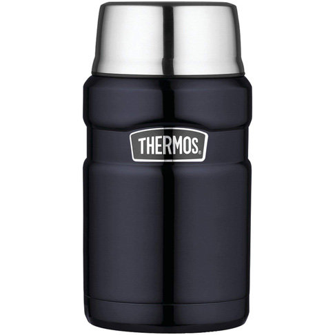 4. Thermos Stainless King Food Jar, 24 Ounce Midnight Blue -Preferred