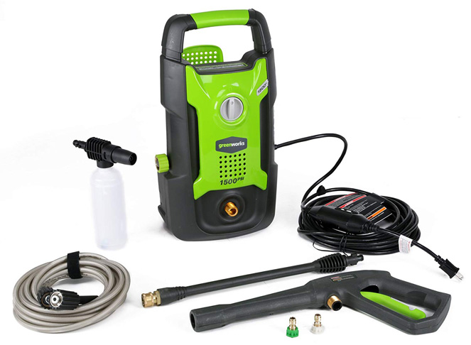3. Greenworks 1500 PSI 13 Amp 1.2 GPM Pressure Washer
