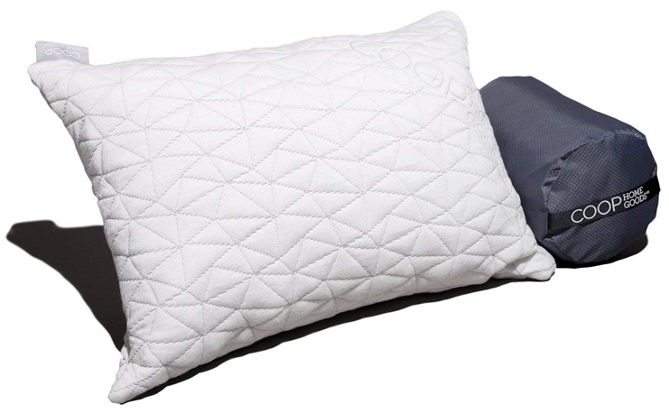 9. Coop Home Goods Camping and Travel Pillow - Preferred