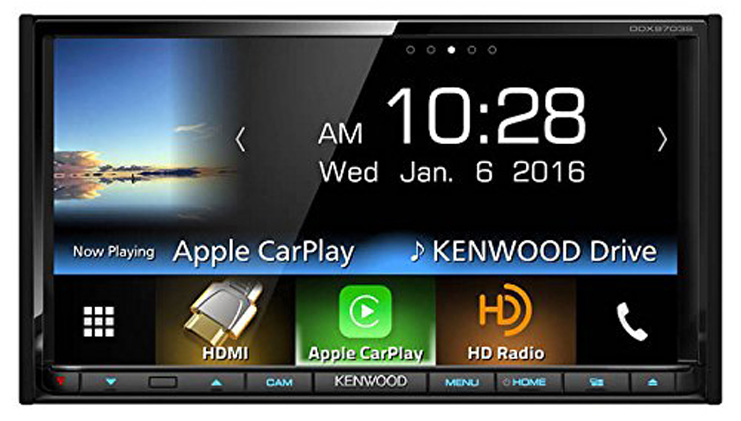 4. Kenwood 2-DIN in-Dash DVD/CD/AM/FM Car Stereo (DDX9703S)