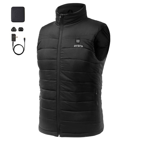 2. ororo Men's Lightweight Heated Vest - Preferred