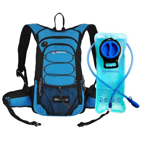3. MIRACOL Hydration Backpack with 2L Water Bladder