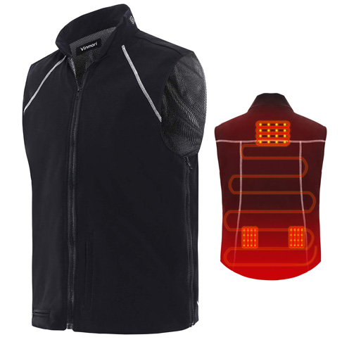 10. Vinmori USB Charging Heated Vest