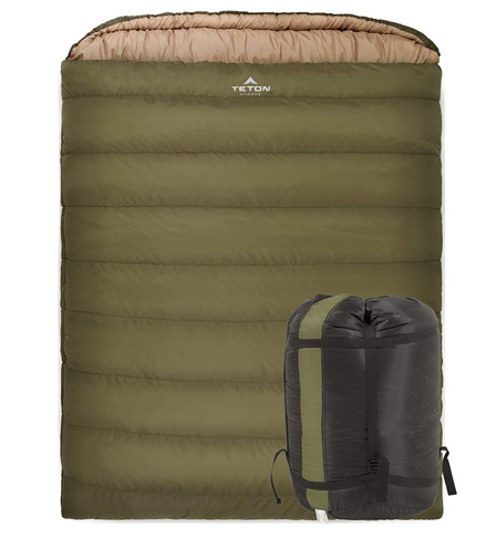 2. TETON Sports Mammoth Queen-Size Double Sleeping Bag - Preferred