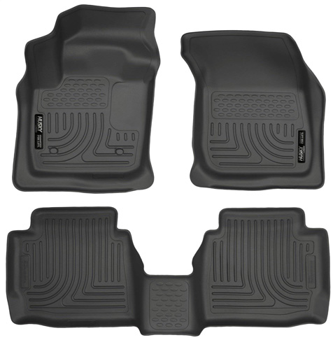 3. Husky Liners Front & 2nd Seat Floor Liners (Fits 13 – 16 Fusion Energi/Titanium) - Preferred