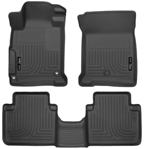 4. Husky Liners Front & 2nd Seat Floor Liners (Fits 13 – 17 Accord Sedan)