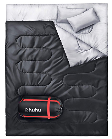 3. Ohuhu Double Sleeping Bag
