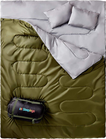 1. Sleepingo Double Sleeping Bag - Preferred