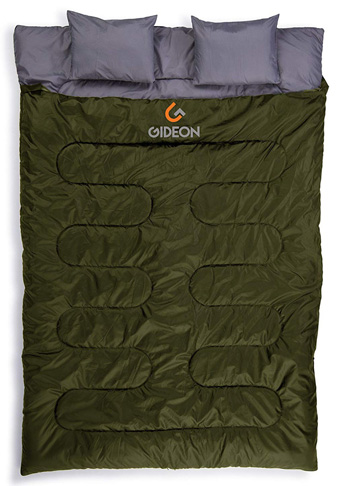 9. Gideon Extreme Waterproof Double Sleeping Bag - Preferred