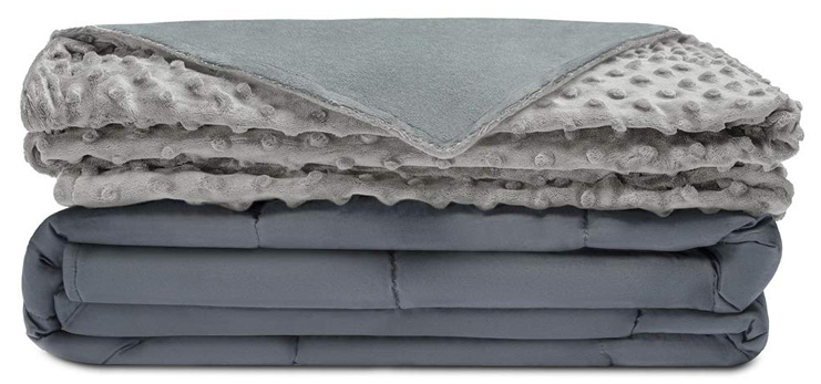 1. Quility Premium Adult Weighted Blanket - Preferred