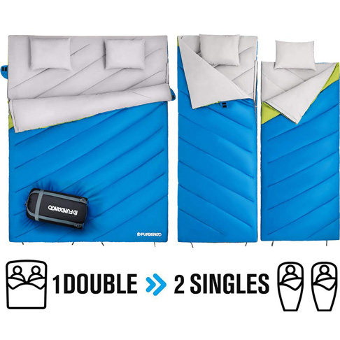 7. FUNDANGO Double Sleeping Bag