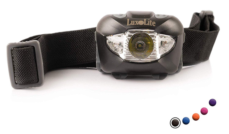 5. Luxolite LED Headlamp Flashlight with Red Led Light - Preferred