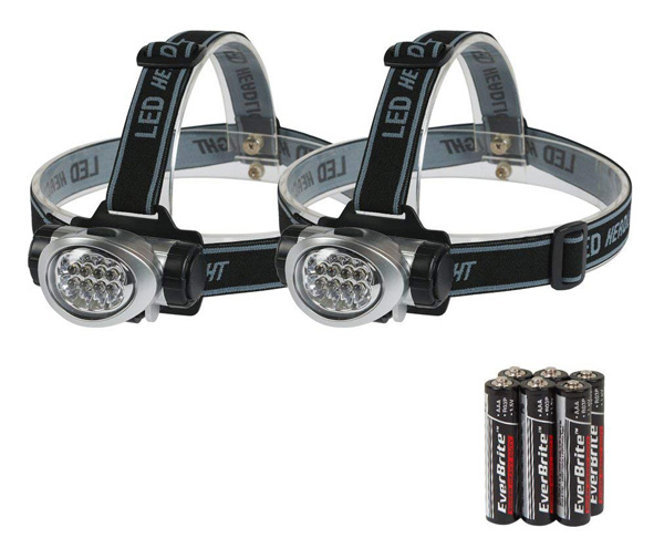10. EverBrite Headlamp Flashlight (2 Pack)