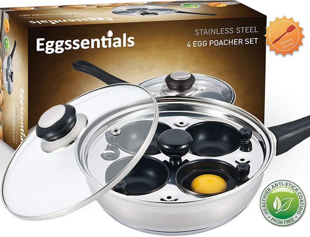 4. Eggssentials 4-cup Poached Egg Maker -Preferred