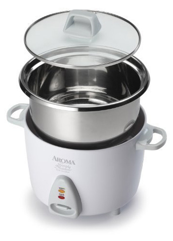 4. Aroma White Stainless Rice Cooker