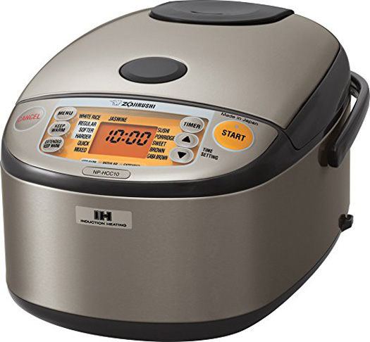 8. Zojirushi Induction Heating System Rice Cooker and Warmer (NP-HCC10XH) - Preferred