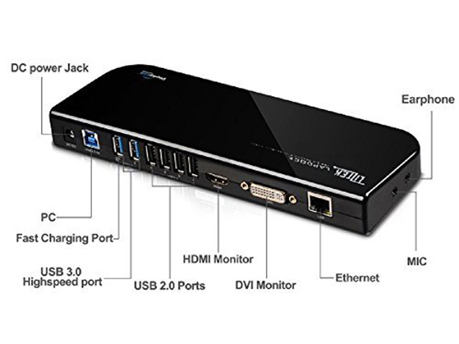 4. Liztek USB 3.0 Universal Docking Station - Preferred