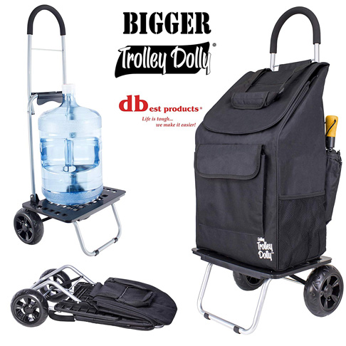2. dbest products Foldable Bigger Trolley Dolly