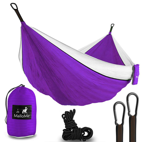 1. MalloMe 2 Person Portable Camping Hammock - Preferred