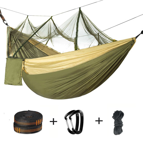 8. IREEFAR Double Camping Hammock with Mosquito Net