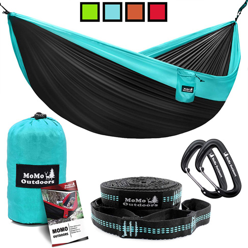 7. MoMo Outdoors Two Person Lightweight Camping Hammock - Preferred