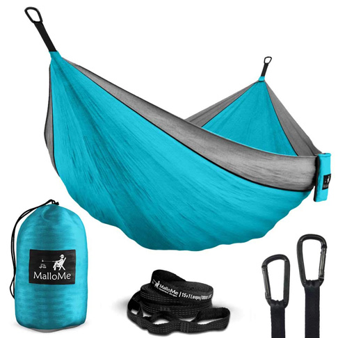 5. MalloMe Double & Single Portable Camping Hammock - Preferred