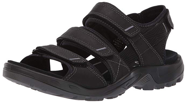 1. ECCO Men's Yucatan outdoor offroad hiking sandal - Preferred